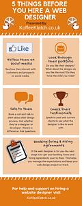 web designer hiring infographic